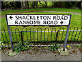 TM1843 : Shackleton Road & Ransome Road sign by Adrian Cable