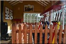 SK1461 : Inside the preserved Hartington signal box by David Martin