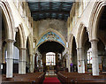 SK8039 : St Mary's, Bottesford - the nave, looking east by Alan Murray-Rust