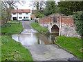 SK8039 : Devon Lane ford by Alan Murray-Rust