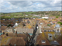 TQ9220 : St Mary Rye: view from the rooftop (iv) by Basher Eyre