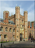 TL4458 : The Great Gate at St John's College, Cambridge by Roger  Kidd