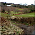 ST4393 : Bridleway sign at the edge of Usk Road near Llanvaches by Jaggery