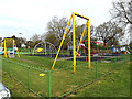 TQ0994 : Children's Playground at King George V Playing Fields by Adrian Cable