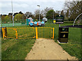 TQ0994 : King George V Playing Fields Playground entrance by Adrian Cable