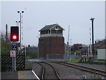TA2609 : Signal box and level crossing, Garden Street, Grimsby by JThomas