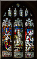 TQ4210 : Stained glass window, St Thomas à Becket church, Cliffe, Lewes by Julian P Guffogg