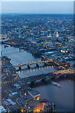 TQ3280 : River Thames from The Shard, London SE1 by Christine Matthews