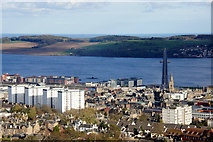 NO4030 : Dundee city centre from Law by Mike Pennington