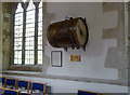 SK7641 : Orston church, Waterloo drum by Alan Murray-Rust