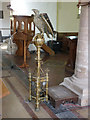 SK7641 : St Mary, Orston - eagle lectern by Alan Murray-Rust