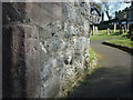 SD4979 : Cut bench mark, St Michael & All Angels Church, Beetham by Karl and Ali