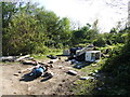 TQ7264 : Flytipping on Hill Road, near Wouldham by Chris Whippet
