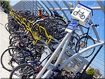SU5290 : The new cycle park at Didcot Station by Steve Daniels