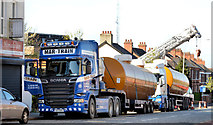 J3774 : Fuel tank delivery, Strandtown, Belfast - April 2014(1) by Albert Bridge