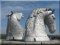 NS9082 : The Kelpies at The Helix by M J Richardson