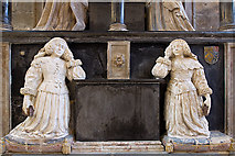 SP0202 : St John the Baptist's church, Cirencester: Monox monument (detail 2) by Mike Searle