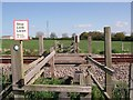 SK2928 : Footpath level crossing by Ian Calderwood