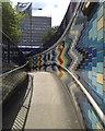 TQ3179 : Ramp up from subway, Elephant & Castle, Newington by Robin Stott