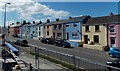 SM9415 : Colourful houses, Milford Road, Haverfordwest by Jaggery