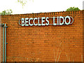 TM4190 : Beccles Lido sign by Adrian Cable