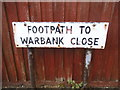 TQ3961 : Old footpath sign in New Addington by David Howard