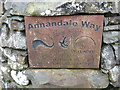 NT0813 : Plaque marking the start (or end) of the Annandale Way by David Purchase
