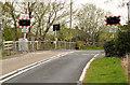 J1488 : Niblock level crossing, Antrim - April 2014(1) by Albert Bridge
