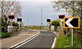 J1488 : Niblock level crossing, Antrim - April 2014(2) by Albert Bridge