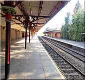 SO7845 : Decorated awning pillar capitals on Great Malvern railway station by Jaggery