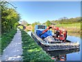 SD5911 : Canals and River Trust Barge on the Leeds and Liverpool Canal by David Dixon