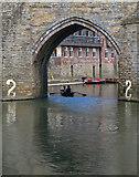 NZ2742 : Arch 2, Elvet Bridge, Durham by Paul Harrop