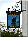 TM4291 : The Ship Public House sign by Adrian Cable