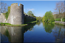 ST5545 : Wells Palace Moat by Stephen McKay