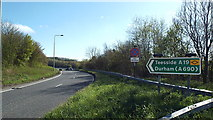 NZ3455 : A19 slip road near Sunderland by Malc McDonald