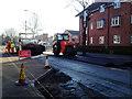 SP2865 : Resurfacing Coventry Road, Warwick by Robin Stott