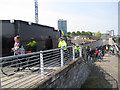 TQ4379 : Thames Path steps at Woolwich Arsenal by Stephen Craven