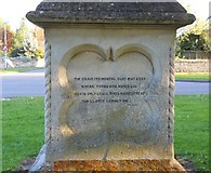 TF1205 : John Clare memorial, Helpston by Paul Bryan