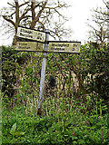 TM4584 : Roadsign on Lower Green by Adrian Cable