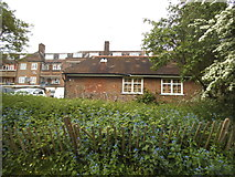 TQ2688 : Garages on Bute Mews, Hampstead Garden Suburb by David Howard