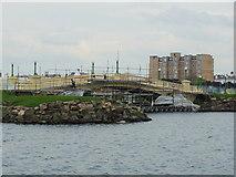 SD3317 : Repairing the bridge over the Marine Lake by Gary Rogers