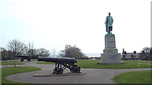 NZ3956 : Havelock statue and cannons, Mowbray Park, Sunderland by Malc McDonald