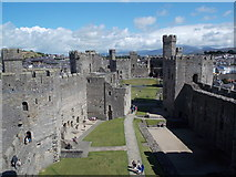 SH4762 : Caernarfon: westward view within the castle by Chris Downer