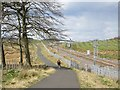 NS8766 : Airdrie - Bathgate railway / NCN 75 by Richard Webb