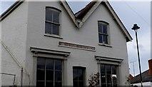 SO3958 : Old shop sign, Pembridge by Bikeboy