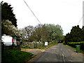 TM4089 : Lodge Farm Lane footpath by Adrian Cable