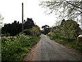 TM4089 : Lodge Farm Lane, Barsham by Adrian Cable