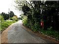 TM4089 : Lodge Farm Lane & The Bridge George V Postbox by Adrian Cable
