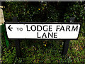 TM4089 : Lodge Farm Lane sign by Adrian Cable