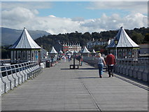 SH5873 : Bangor: landward view along the pier by Chris Downer